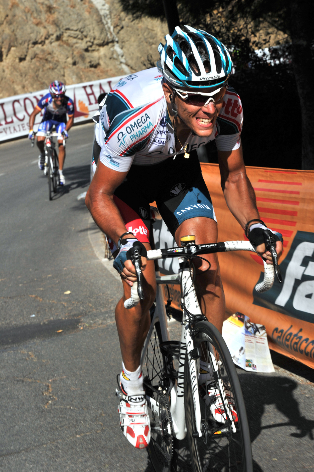 Philippe Gilbert attack, Vuelta a Espana 2010, stage three
