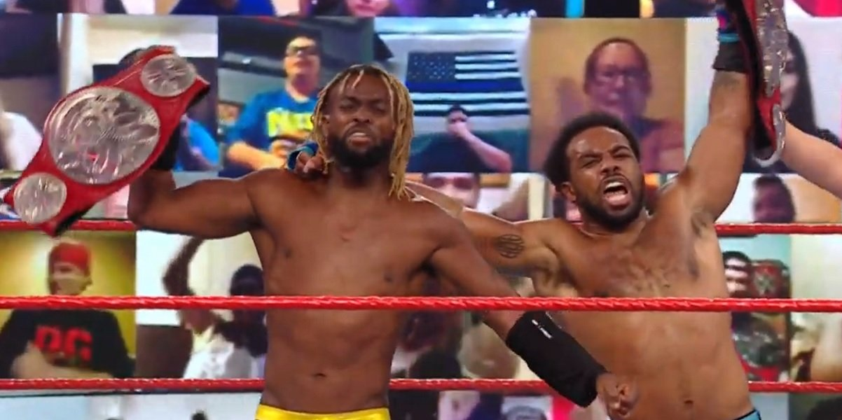 Kofi Kingston and Xavier Woods Monday Night Raw WWE
