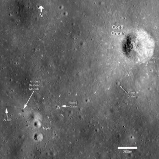 New Moon Photo Reveals Tracks from Tough Apollo Moonwalk