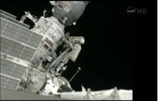 Sergei Volkov and Alexander Samokutyaev Perform Russian Spacewalk