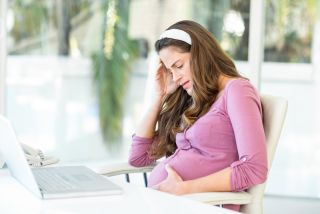 Stressed pregnant woman