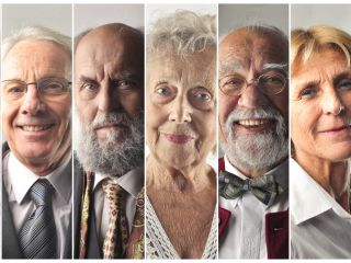 faces of elderly people