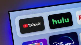YouTube TV and Hulu icons on Apple TV