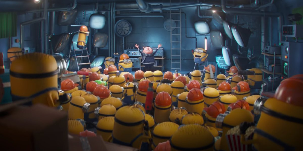 Gru and the Minions in Minions 2