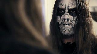 Blackhearts documentary still: Vegar (From The Vastland) preparing for a concert