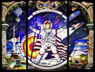 Stained Glass Reflects on Astronauts' Lives
