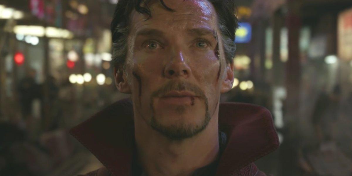 Benedict Cumberbatch preparing for battle in Doctor Strange
