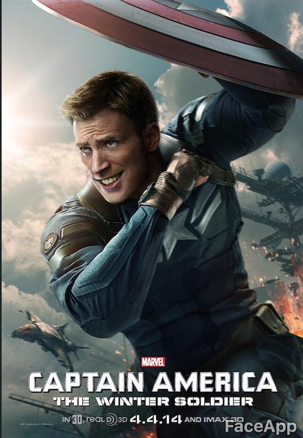 Captain America FaceApp