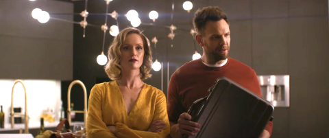 Tom (Joe McHale) and Janet (Kerry Bishé) in 'Happily.'