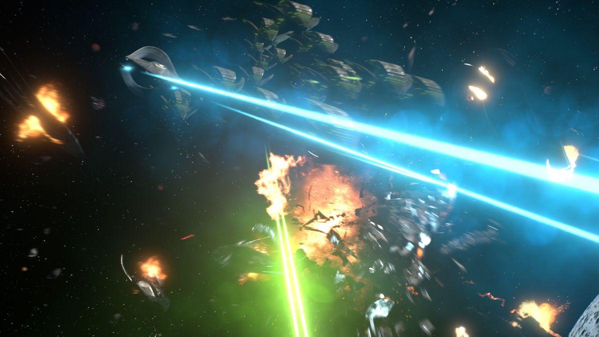 Various ships firing