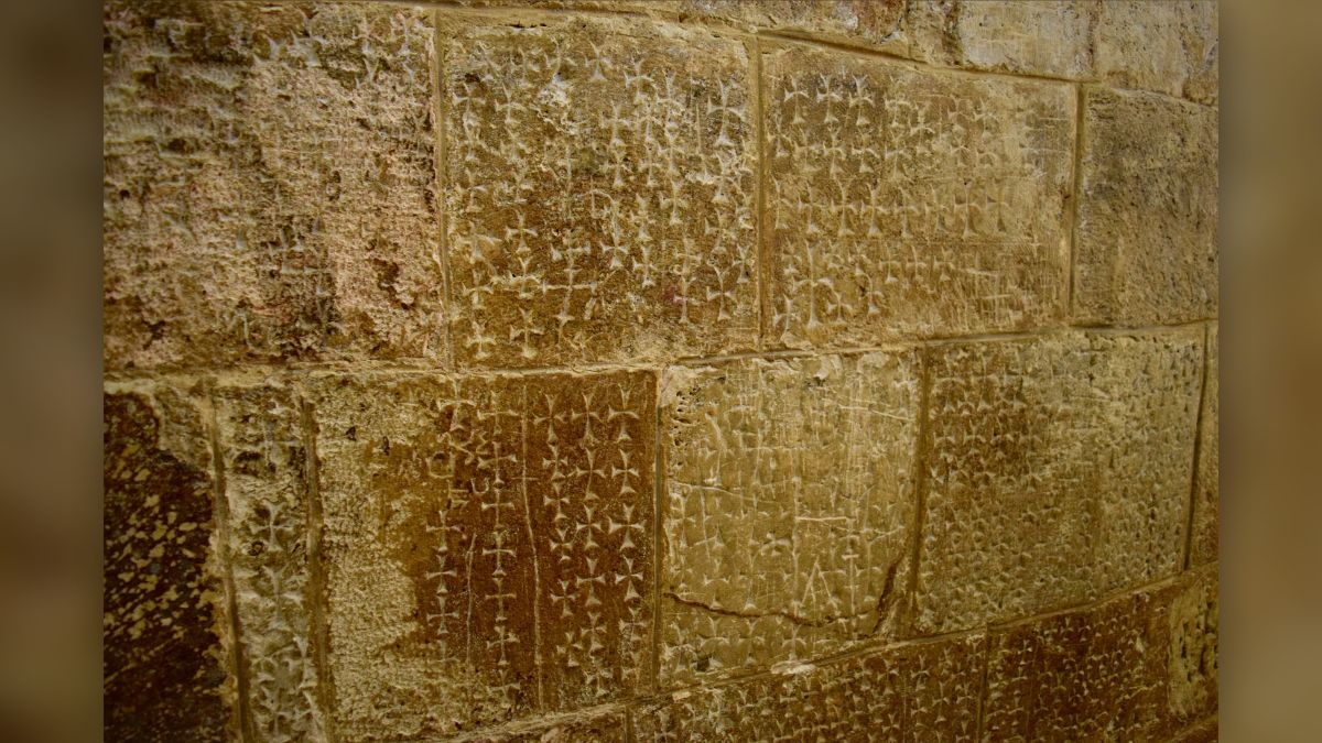 Church of the Holy Sepulchre's mysterious 'graffiti' crosses may not be what they seem