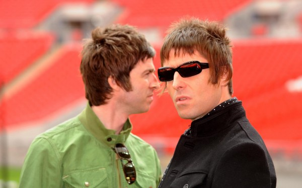 Oasis - brothers Noel and Liam Gallagher