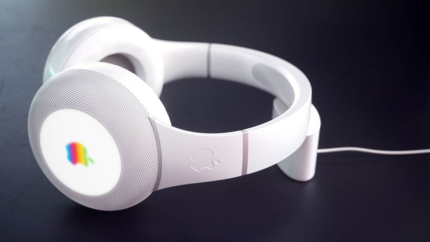 This mockup from Curved shows the so-called AirPods Studio charging wirelessly
