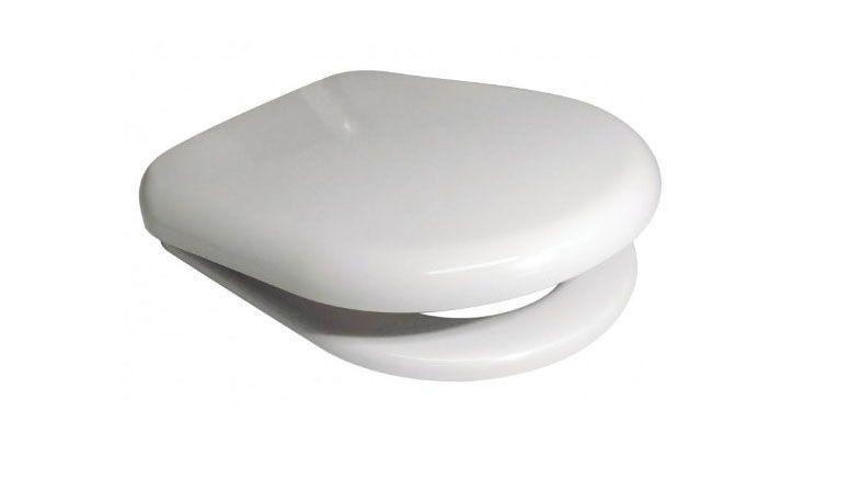 D Shaped Design WC Toilet Seat Soft Close Top Fix Quick Release Hinge Easy Clean