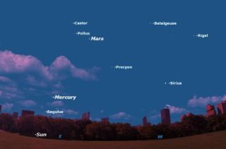 Mercury makes its best morning appearance of 2011 this Saturday, September 3, as seen from Central Park, New York City.