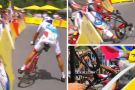 Stage 18 Tour de France TT crash corner