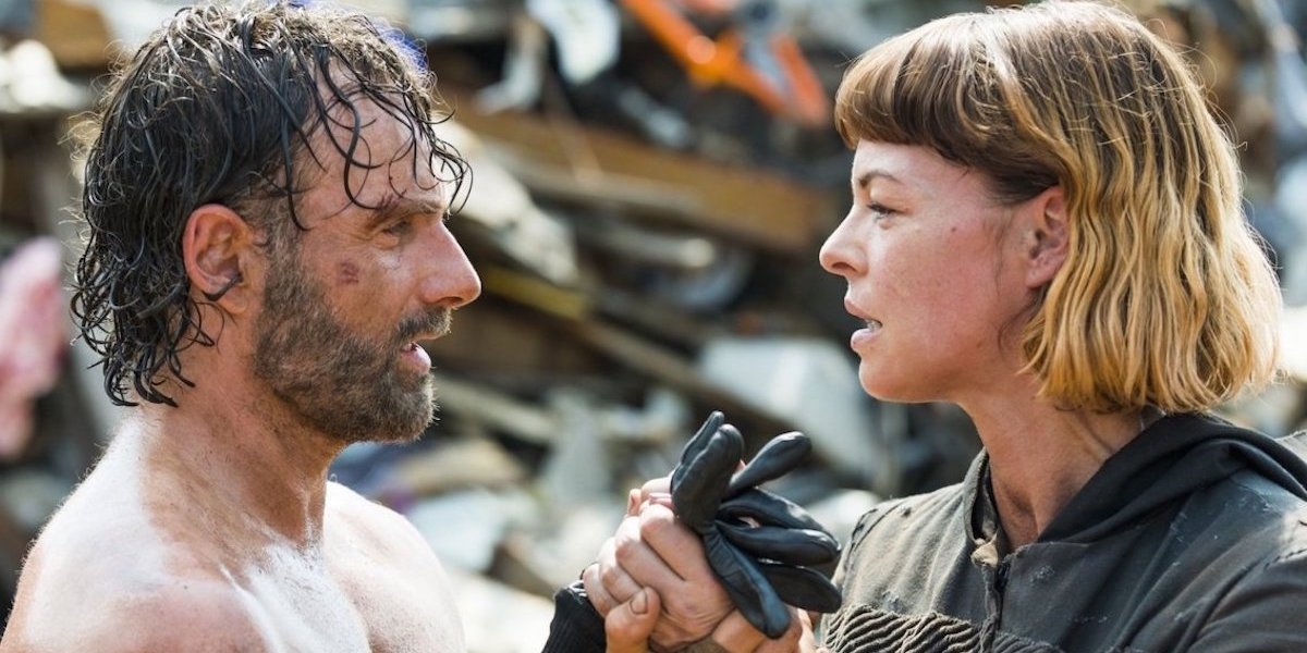 Rick and Jadis in The Walking Dead