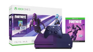 Microsoft's purple Fortnite edition Xbox One S appears in leaked images