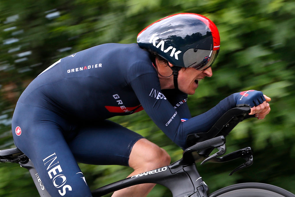 ROCHELAMOLIERE FRANCE JUNE 02 Geraint Thomas of The United Kingdom and Team INEOS Grenadiers during the 73rd Critrium du Dauphin 2021 Stage 4 a 164km Individual Time Trial stage from Firminy to RochelaMolire 585m ITT UCIworldtour Dauphin dauphine on June 02 2021 in RochelaMoliere France Photo by Bas CzerwinskiGetty Images