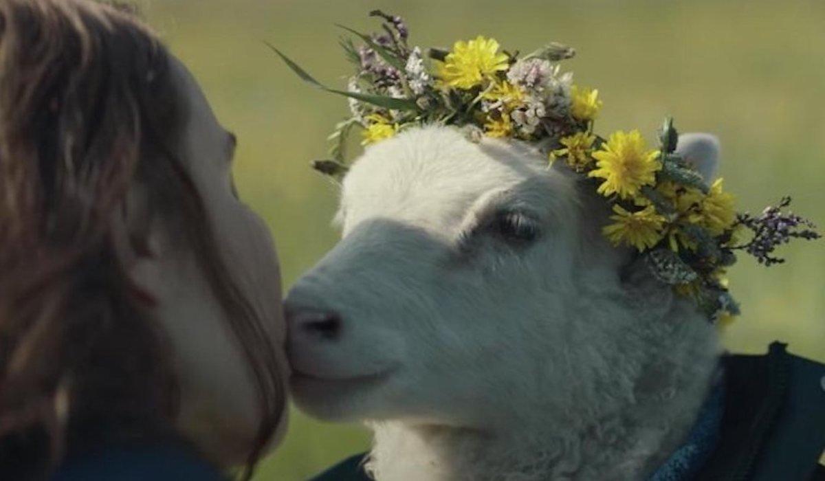 Lamb movie A24, lamb in flower crown