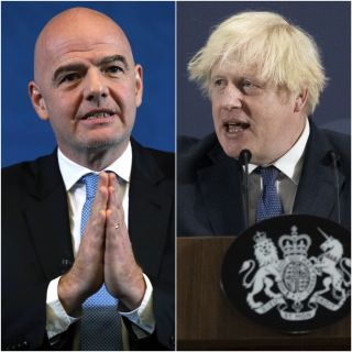 Gianni Infantino/Boris Johnson