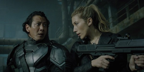 Reileen and Takeshi in Altered Carbon