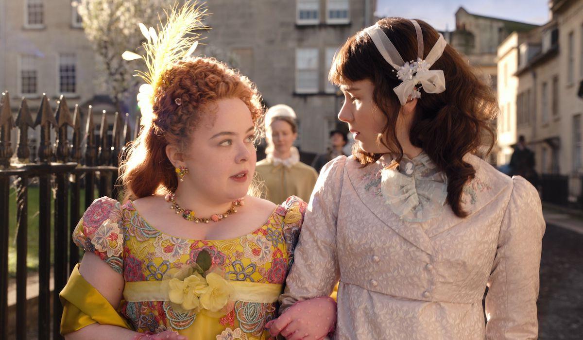 Penelope Featherington and Eloise Bridgerton in Netflix series