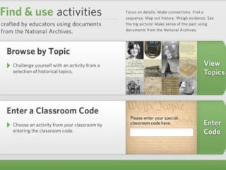 Primary Source Documents at Core of History App