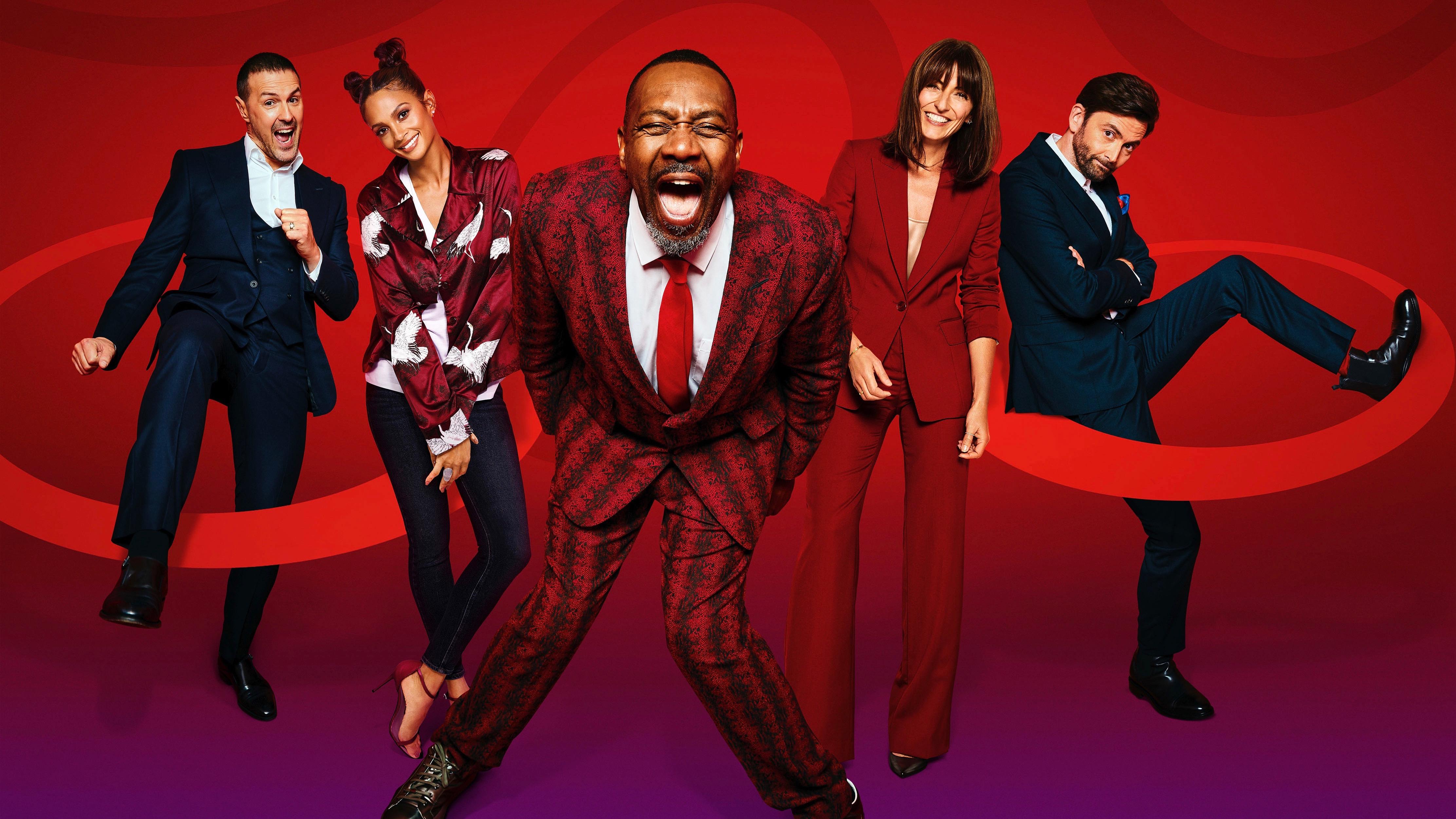 Sir Lenny Henry y los presentadores de Comic Relief 2021.