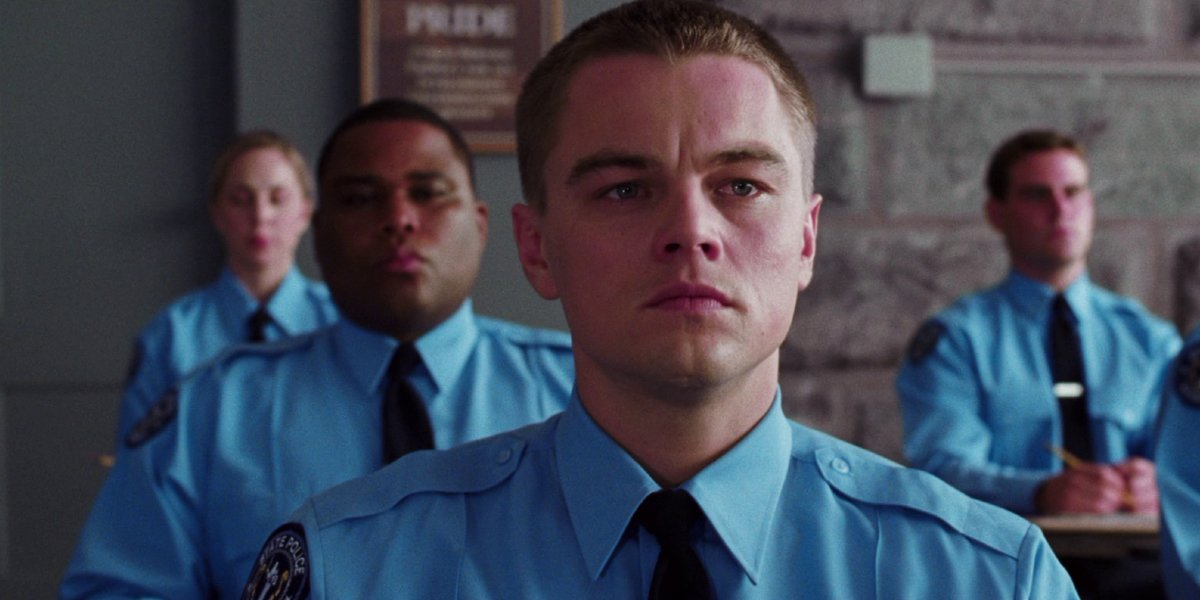 Anthony Anderson and Leonardo DiCaprio in The Departed