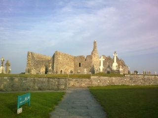 Clonmacnoise monastery in the Irish Midlands. This was a center of recording of annalistic manuscripts from around A.D. 700 to A.D. 1200.