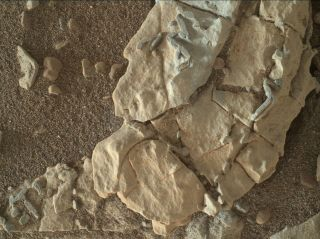 Mars stick-like features