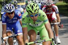 Peter Sagan (Cannondale) racked up even more green jersey points by making the breakaway on the Ventoux stage