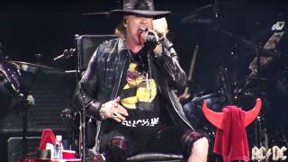 Axl Rose with AC/DC