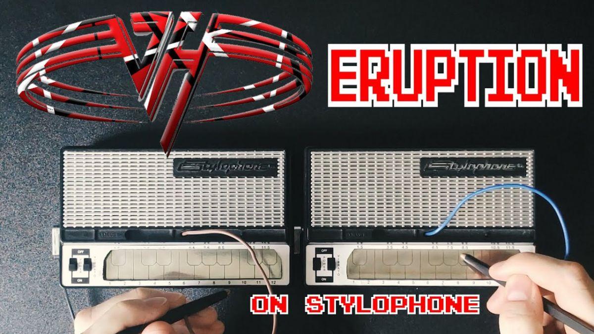 Eruption played on three stylophones is a mind-boggling tribute to Eddie Van Halen