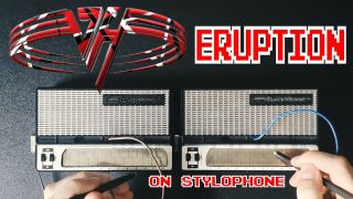 Eruption played on a pair of stylophones
