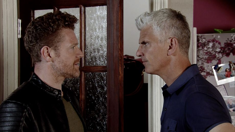 Robert Preston with Jed in Coronation Street