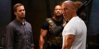 Paul Walker, Dwayne Johnson, and Vin Diesel in Fast and Furious 6