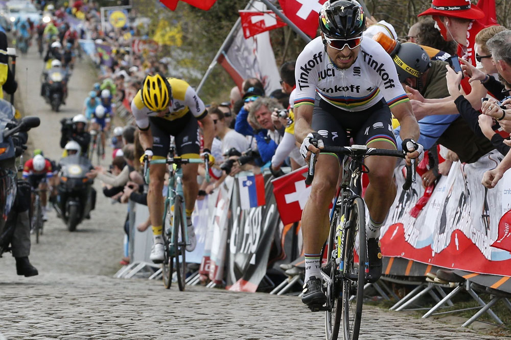 Peter Sagan escapes to win the 2016 Tour of Flanders. Photo  Graham Watson 343132133