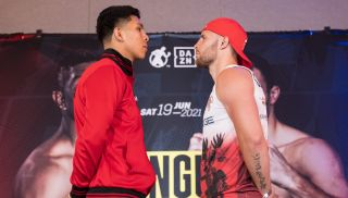 Jamie Munguia and Kamil Szeremeta face off at the press conference for their DAZN fight.