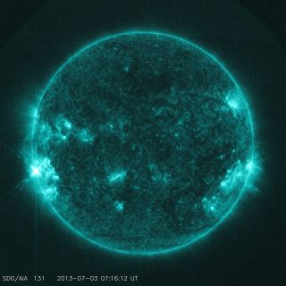 The sun unleashed an M1.5-class solar flare on July 3, 2013