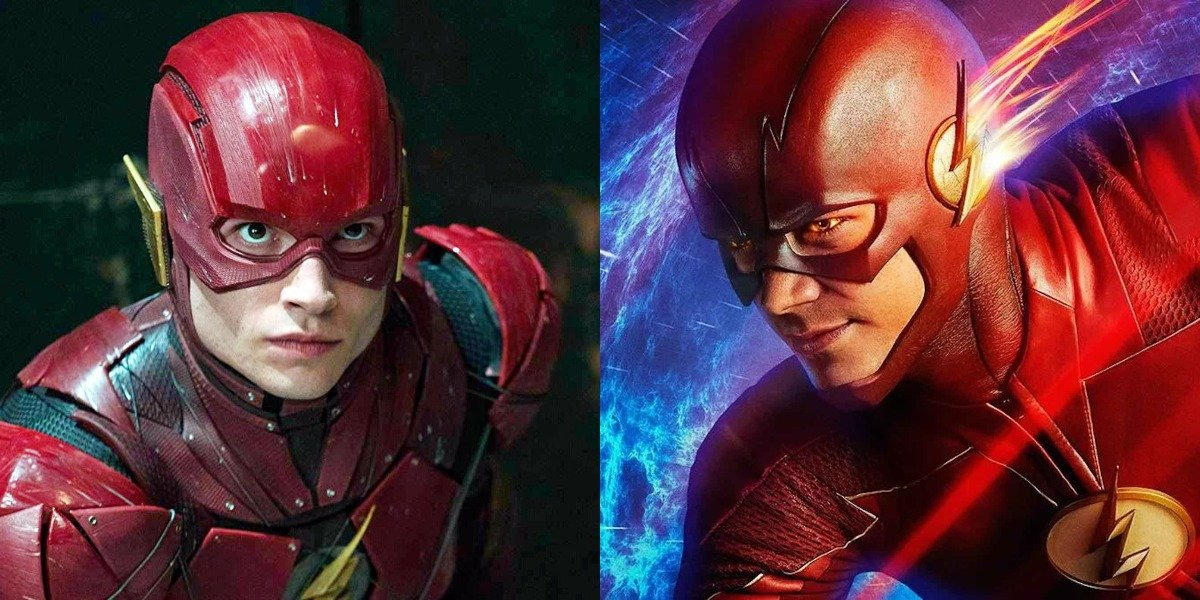 Ezra Miller as Flash in Justice League and Grant Gustin as Flash in CW series