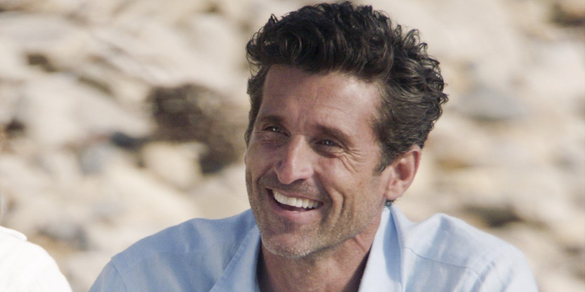 Patrick Dempsey on the beach with meredith in grey's anatomy