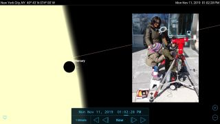 Mobile astronomy apps such as SkySafari 6 are an ideal tool to preview celestial events. The transit of Mercury on the morning of Nov. 11, 2019 is the last such event until 20??. In the Eastern USA and Canada, the moon will set mid-eclipse. But skywatchers in the west will be able to watch the entire eclipse, as shown here near the end of the eclipse at 6:15 a.m. PST in San Francisco, CA. By telling you where in the sky it will occur, your astronomy app can help you plan to observe or photograph any eclipse.