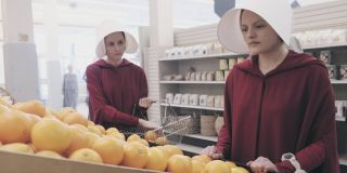 Alexis Bledel and Elisabeth Moss in The Handmaid's Tale