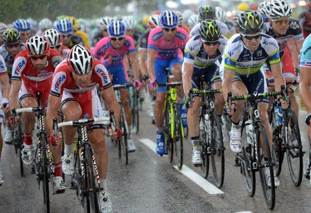 Katusha and Orica-GreenEdge chase, Tour de France 2012, stage six