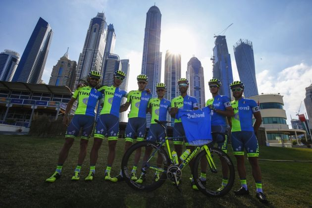 Tinkoff before the 2016 Dubai Tour
