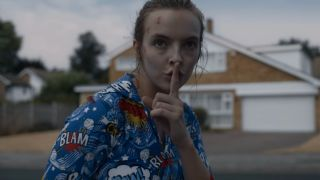 An image of Villanelle (Jodier Comer) in the Killing Eve Season 2 trailer
