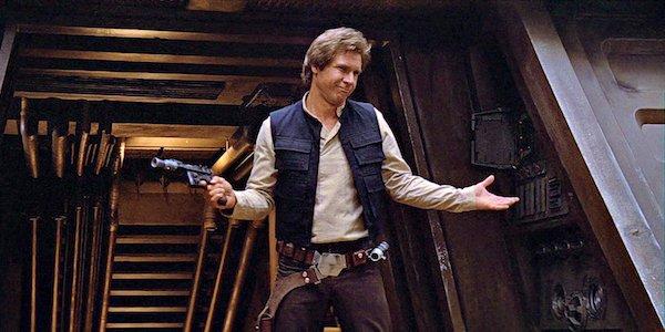 Han Solo shrugging in Return of the Jedi