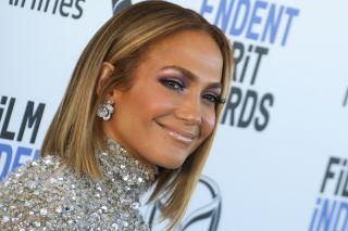 Jennifer Lopez smiling.
